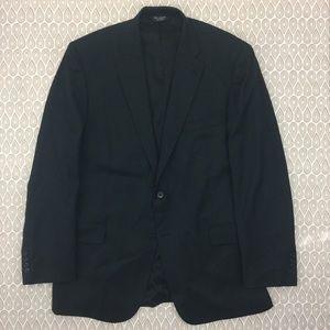 Jos A Bank Mens Tailored Black Blazer SZ 44L P137